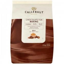 Callebaut 25% Cocoa Milk Chocolate Chunks 2.5kg