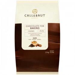 Callebaut 45% Cocoa Dark Chocolate Chunks 2.5kg