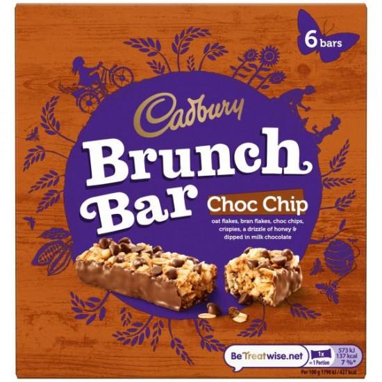 Cadbury Brunch Bar Choc Chip 6 x 192g
