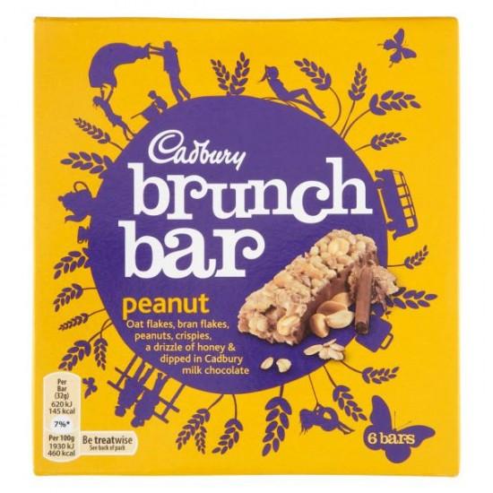 Cadbury Brunch Bar Peanut 6 x 192g