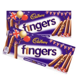 Cadbury Chocolate Fingers: 20-Piece Box