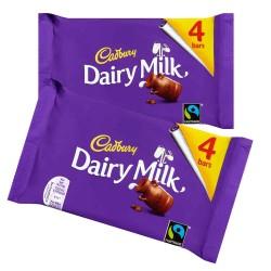 Cadbury Dairy Milk Plain Multipack: 14-Piece Box