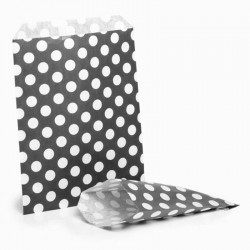 Black & White Polka Dot Candy Bag: 100 Pack