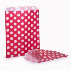 Red & White Polka Dot Candy Bag 100 Pack