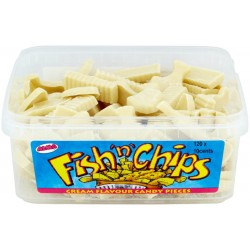 Chocolate Fish And Chips: 120-Piece Tub
