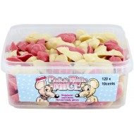 Chocolate Pink And White Mice 120 Pieces