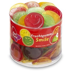 Red Band Winegum Smiles: 150-Piece Tub