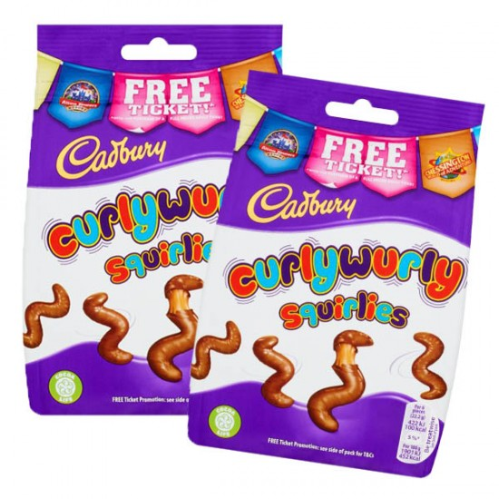 Cadbury Curly Wurly Squirlies: 10-Piece Box