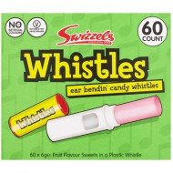 Candy Whistles: 60-Piece Tub