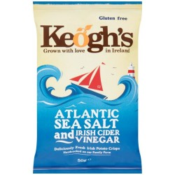 Keoghs Sea Salt & Vinegar Crisps 24 x 50g