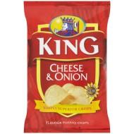 King Crisps Cheese & Onion: 50-Piece Box