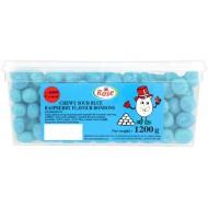 Mini Blue Raspberry Bon Bons: 600-Piece Tub