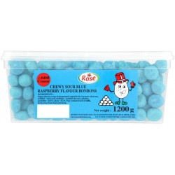 Mini Blue Raspberry Bon Bons: 600-Piece Tub