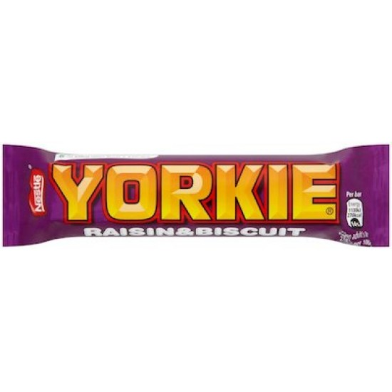 Nestle Yorkie Raisin & Biscuit Bar 24 x 44g
