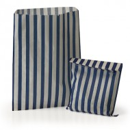 Blue Stripe Candy Bag: 100 Pack