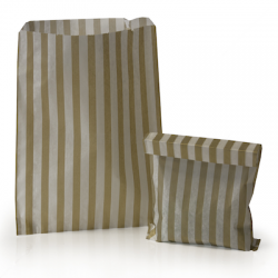 Gold Stripe Candy Bag: 100 Pack