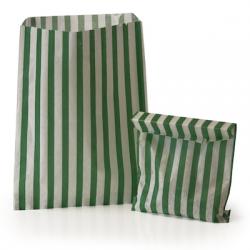 Green Stripe Candy Bag: 100 Pack