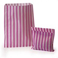 Pink Stripe Candy Bag 100 Pack