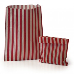 Red Stripe Candy Bag 100 Pack