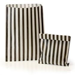 Black Stripe Candy Bag: 100 Pack