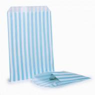Light Blue Stripe Candy Bag 100 Pack