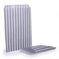 Silver Stripe Candy Bag 100 Pack