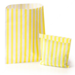 Yellow Stripe Candy Bag 100 Pack