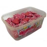 Chocolate Pink Hearts: 120-Piece Tub