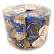 Chocolate Euro Coins: 50-Piece Tub