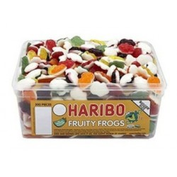 Haribo Fruity Frogs: 375-Piece Tub