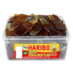 Haribo Giant Cola Bottles: 38-Piece Tub