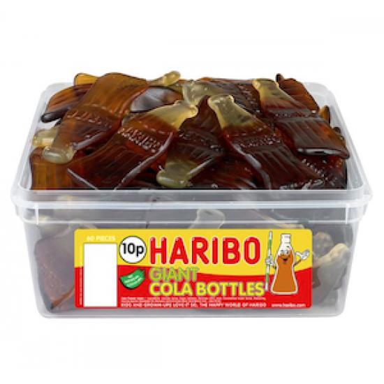 Haribo Giant Cola Bottles: 38-Piece Tub