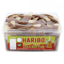 Haribo Giant Fizzy Cola Bottles: 38-Piece Tub