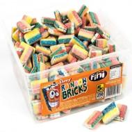 Fini Fizzy Rainbow Bricks: 250-Piece Tub