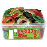 Haribo Giant Suckers: 75-Piece Tub