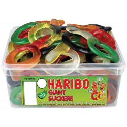 Haribo Giant Suckers: 75-Piece Tub