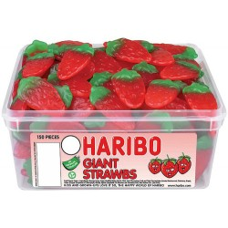 Haribo Giant Strawbs: 150-Piece Tub