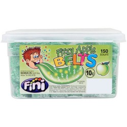 Fini Fizzy Apple Belts: 150-Piece Tub