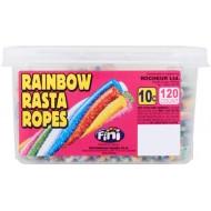 Fini Rainbow Rasta Ropes: 120-Piece Tub