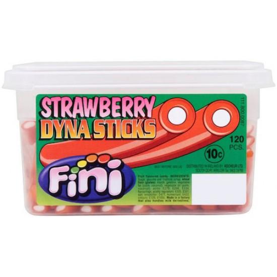 Fini Strawberry Dyna Stix: 120-Piece Tub