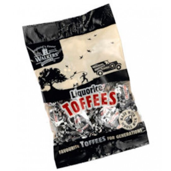 Walkers Liquorice Toffees: 12-Piece Box
